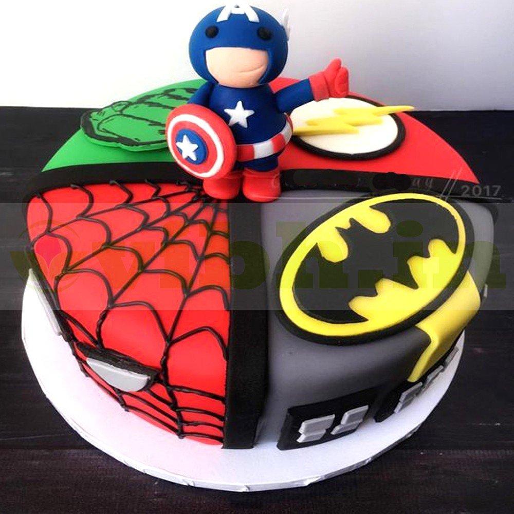 Phenomenal Buy Avengers Birthday Fondant Cake Online In Delhi From Vibh Delhi Funny Birthday Cards Online Alyptdamsfinfo
